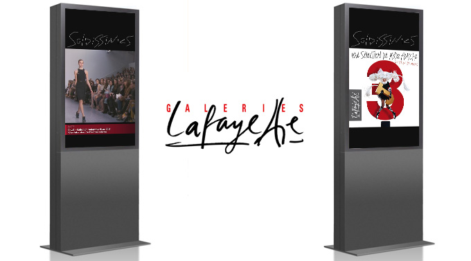 Galeries Lafayette HD in-store screens powered by 8020Films