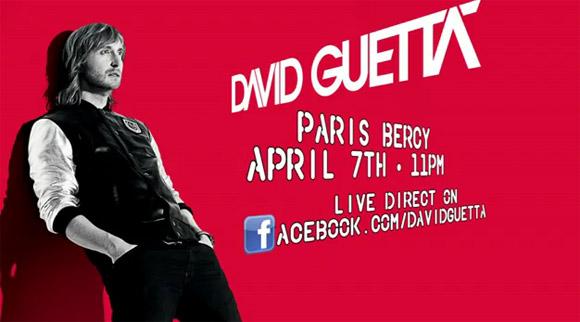 David Guetta live stream poster