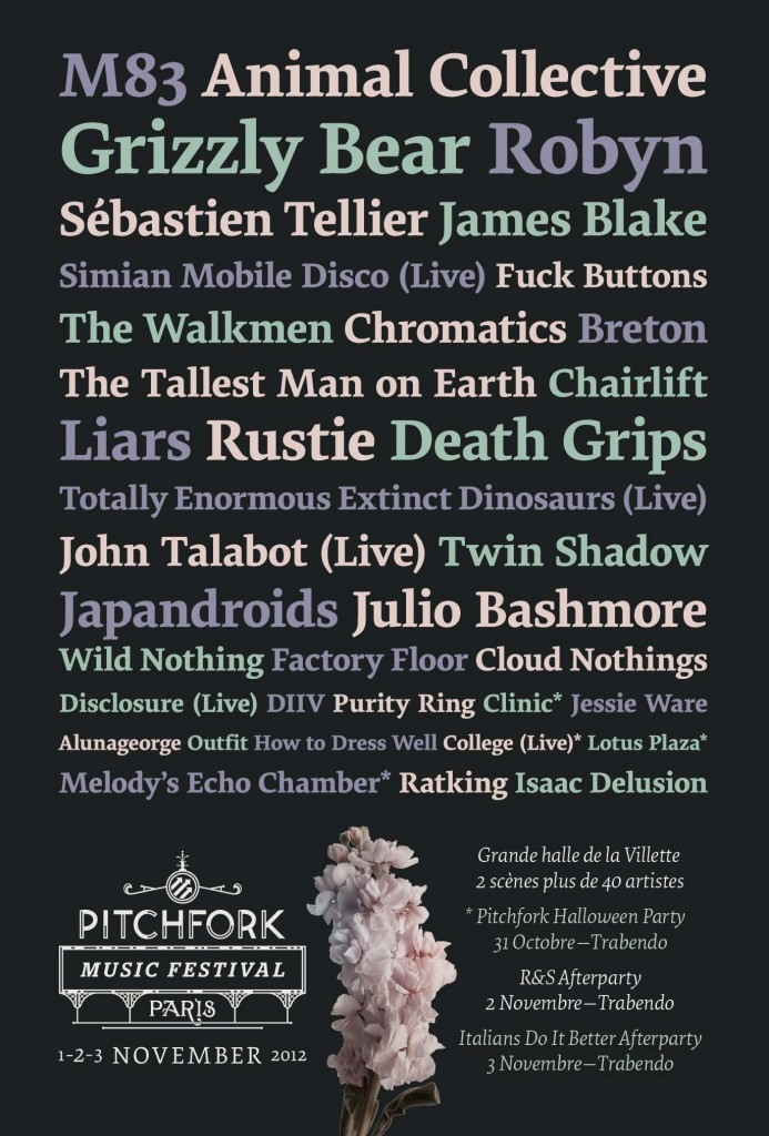 Pitchfork Music festival Paris artist roster